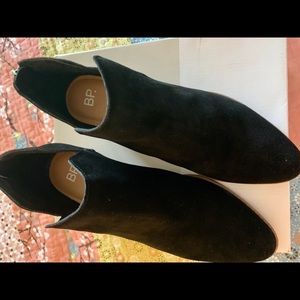 BP Black Suede Bootie Size 10